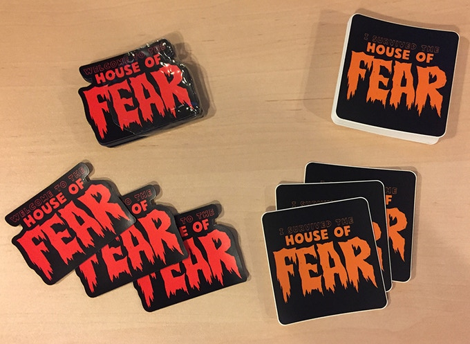 Free stickers and magnets for random backers