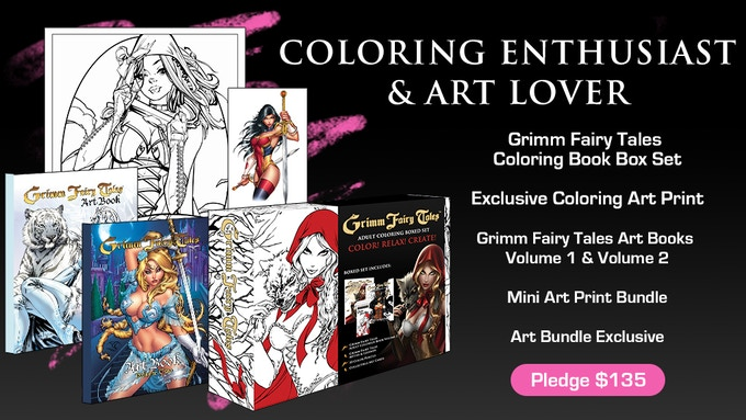 One For Me You Bundle 2 Grimm Fairy Tales Coloring Book Boxed Sets And A Friend Save 10