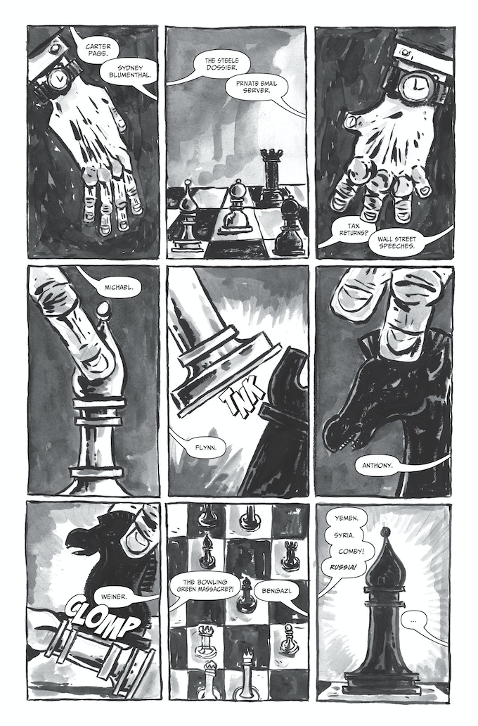 A page from Erica Schultz's collaboration with Claire Connelly