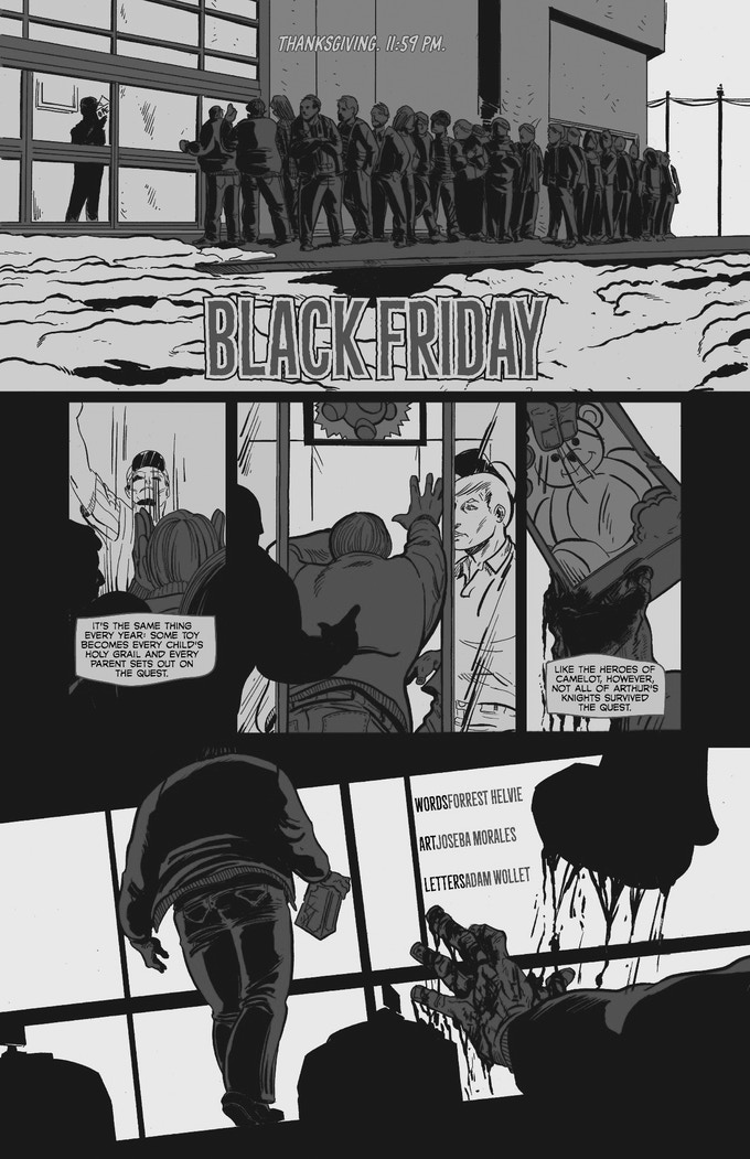 """A page from """"Black Friday"""" by Forrest Helvie and Joseba Morales"""