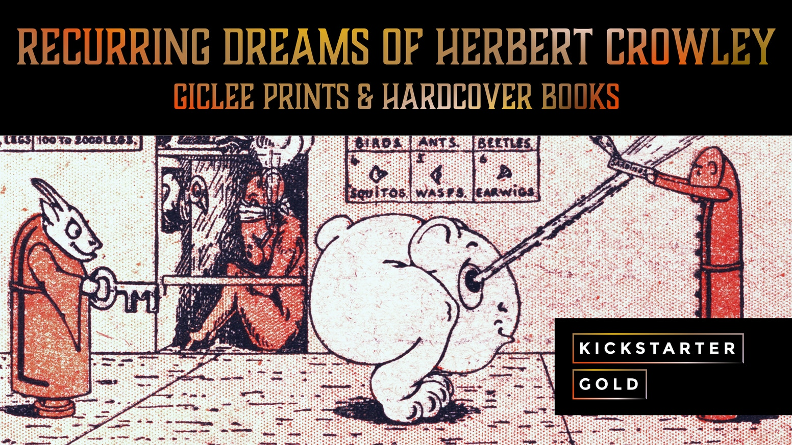 Limited edition giclée  prints accompany the release of the definitive art book about forgotten visionary artist Herbert Crowley.