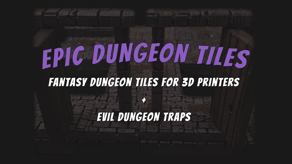 Epic Dungeon Tiles: Fantasy Tiles for 3D Printers (OpenLOCK) project video thumbnail
