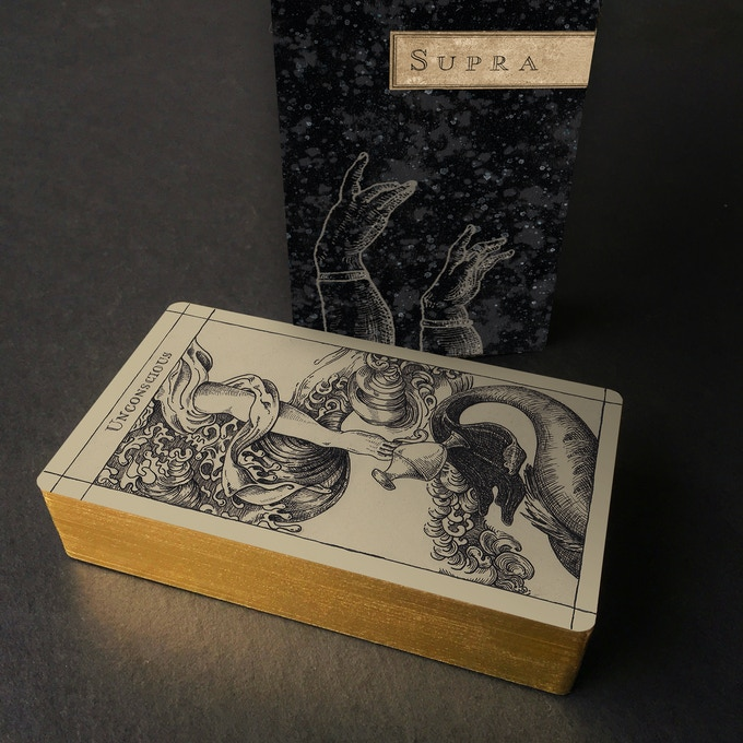 "Kickstarter Gold / Uusi ""Supra"" Oracle / 24KT Limited Edition, hand-gilded deck"