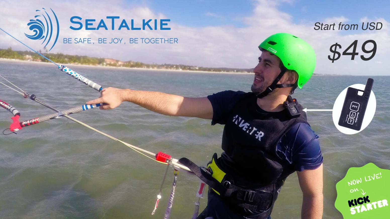 SeaTalkie is an innovative waterproof walkie talkie designed for water sports.  Especially for CHILDREN playing at crowded beaches.