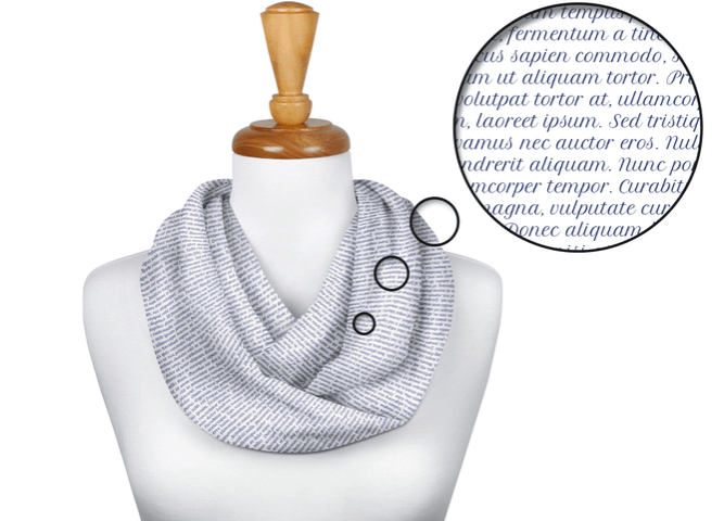 Infinity scarf sans Monolith text (Litograph has nothing to do with our campaign)