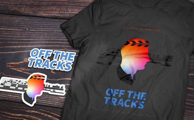 Off the Tracks Decals and T-Shirt!
