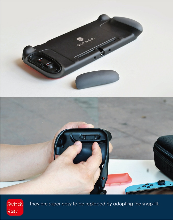 GripCase: A Case with Replaceable Grips for Nintendo Switch