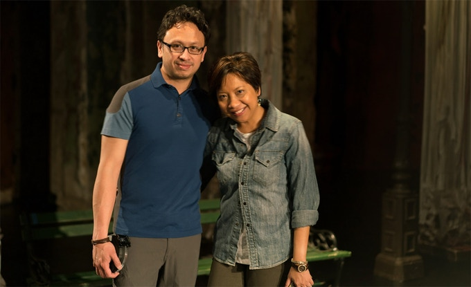 Ivan and Ruth Maramis on the set of 'Hearts Want'