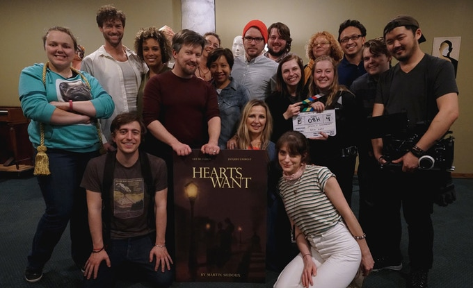 'Hearts Want' cast & crew on the last day of filming