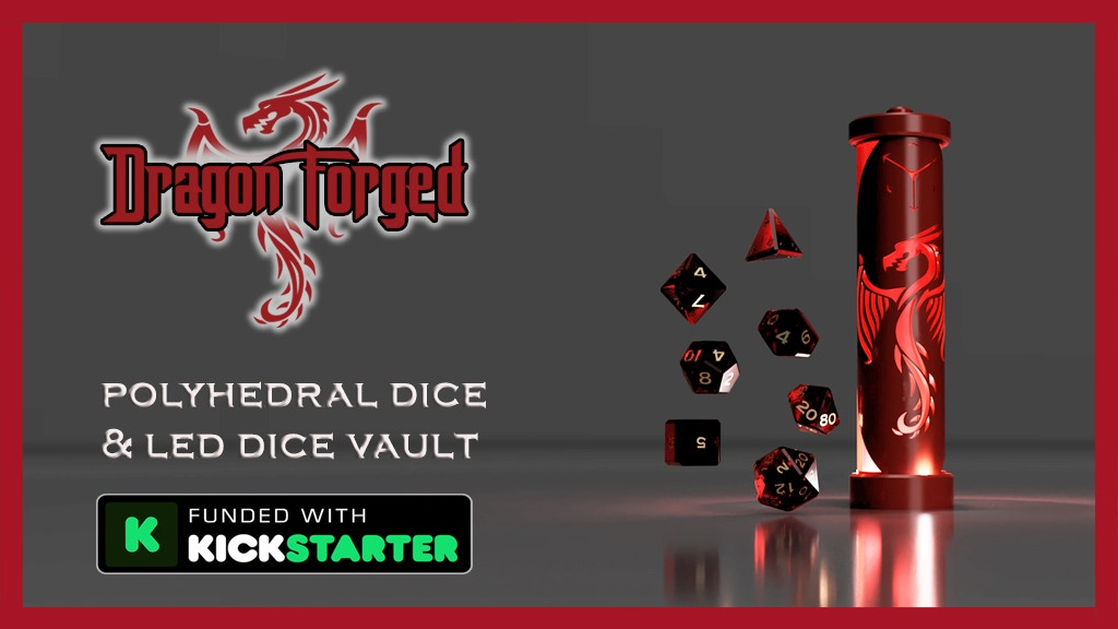 Dragon Forged LED Dice Vault and Polyhedrals by Gravity Dice project video thumbnail