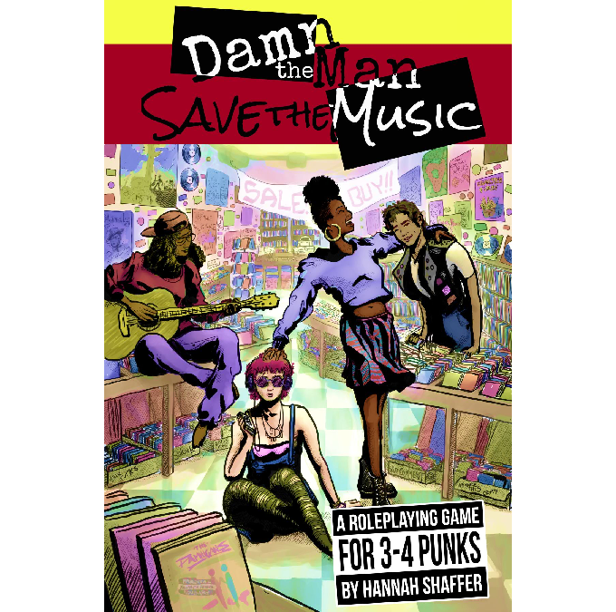 Damn the Man cover art by Evan Rowland