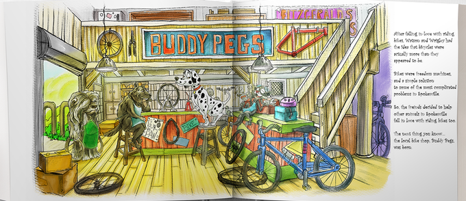 Mock up of the book Buddy Pegs Taking the Lead.