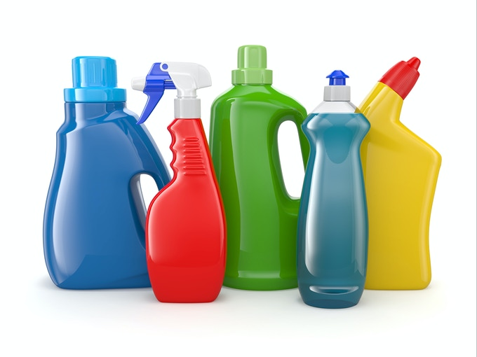Your cleaning chemicals cabinet