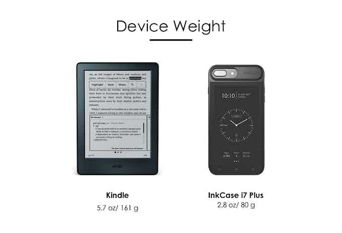 InkCase i7 Plus weighs only 2.8oz / 80g