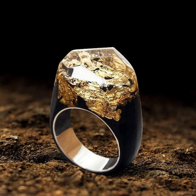Gold Landscape Ring