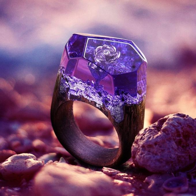 Purple Rose Ring