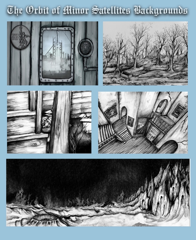 Ink Background paintings by Chris Sullivan