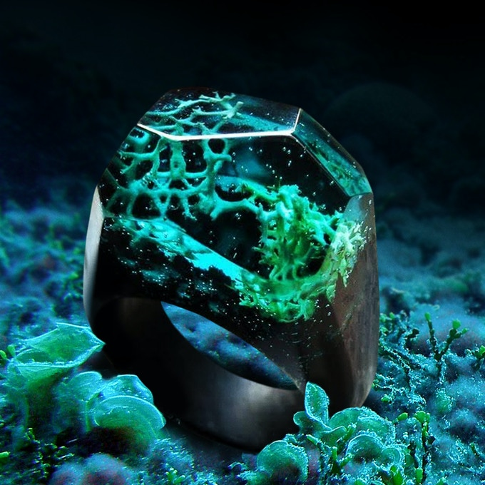 Blue Coral Ring