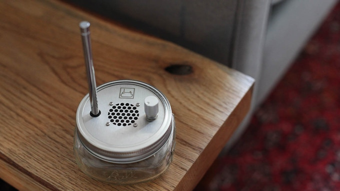 The Public Radio, pre-tuned to your broadcast frequency only, with a custom, laser-engraved lid. So much better than a tote bag!