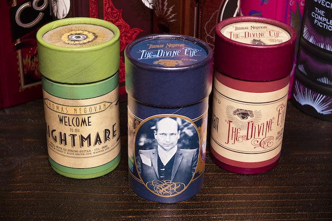 The three Thomas Negovan wax cylinders.
