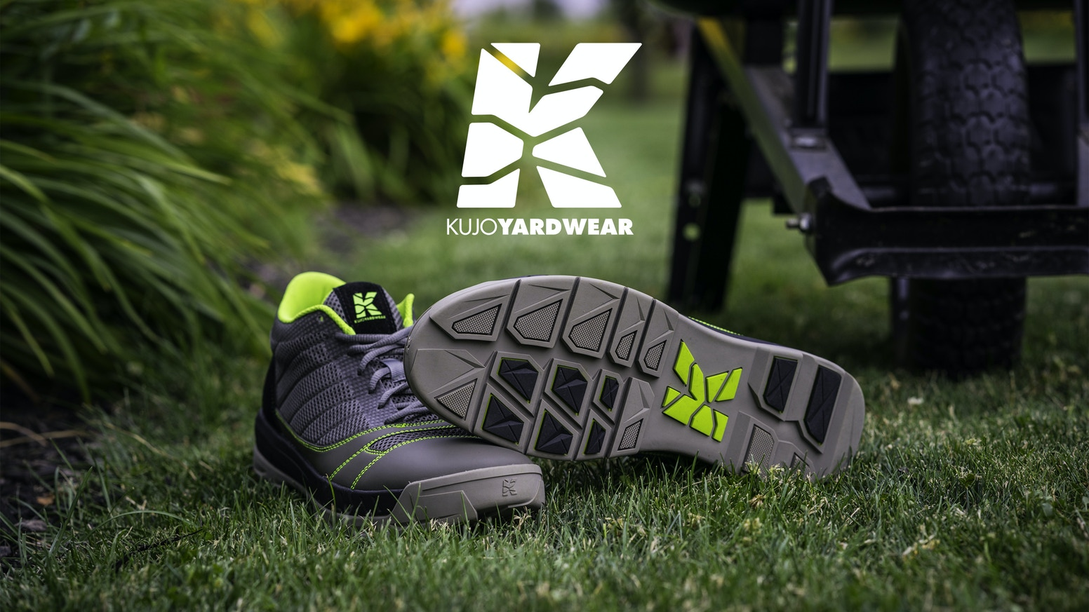 Ultimate All-Purpose Yard Shoe has the durability of a work boot, grip of a hiking shoe, and the comfort and light weight of a sneaker.