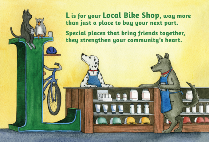 From our book B Is For Bicycles.