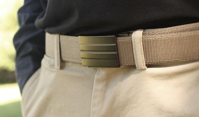 X2 Buckle & Tan Reinforced Nylon Belt