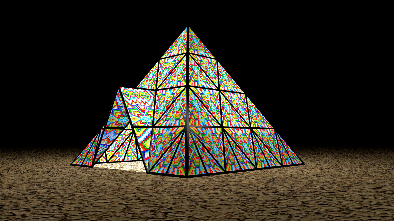 Gummy Bear Pyramid Art Installation Burning Man 2017 by