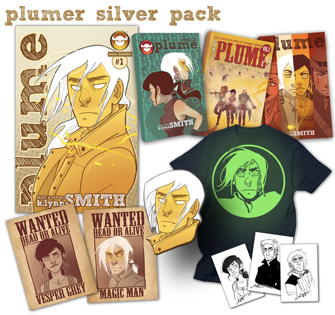 Plumer Silver Pack! Almost every Plume exclusive offered in this Kickstarter!