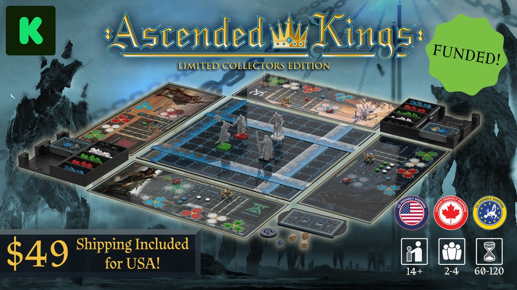 Ascended Kings Board Game & Graphic Novel project video thumbnail