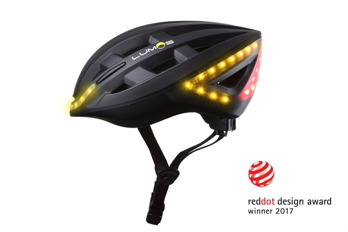 The ultimate bicycle helmet. Brighten your ride with integrated lights, brake, and turn signals.