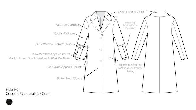 Dragon 88: Jetsetter Smart Coats by Kiyo Ohara —Kickstarter