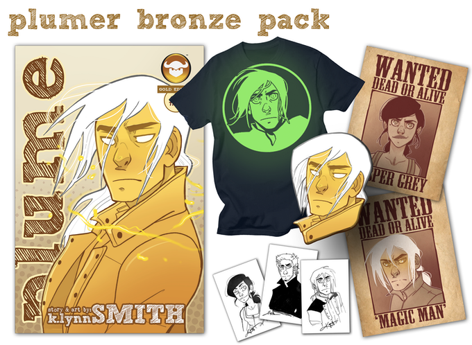 Plumer Bronze Pack! Everything featured in the Starter Pack PLUS the glow-in-the-dark Corrick tee!