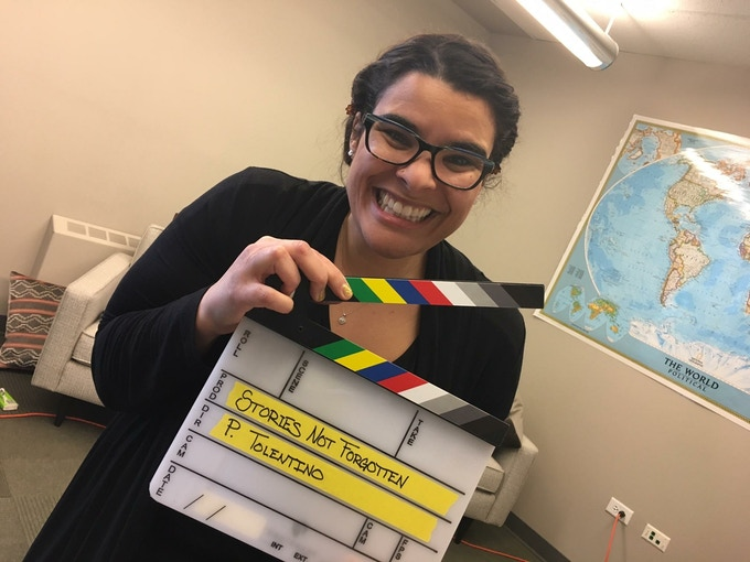 """Rebekah Henderson Librarian/Filmmaker """"I used to only identify as black, but now that I have a white son, I've started identifying as mixed."""""""