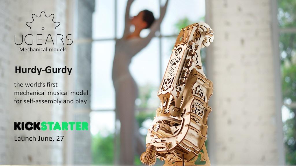 Miniature de la vidéo du projet UGEARS Hurdy-Gurdy: unique mechanical musical model
