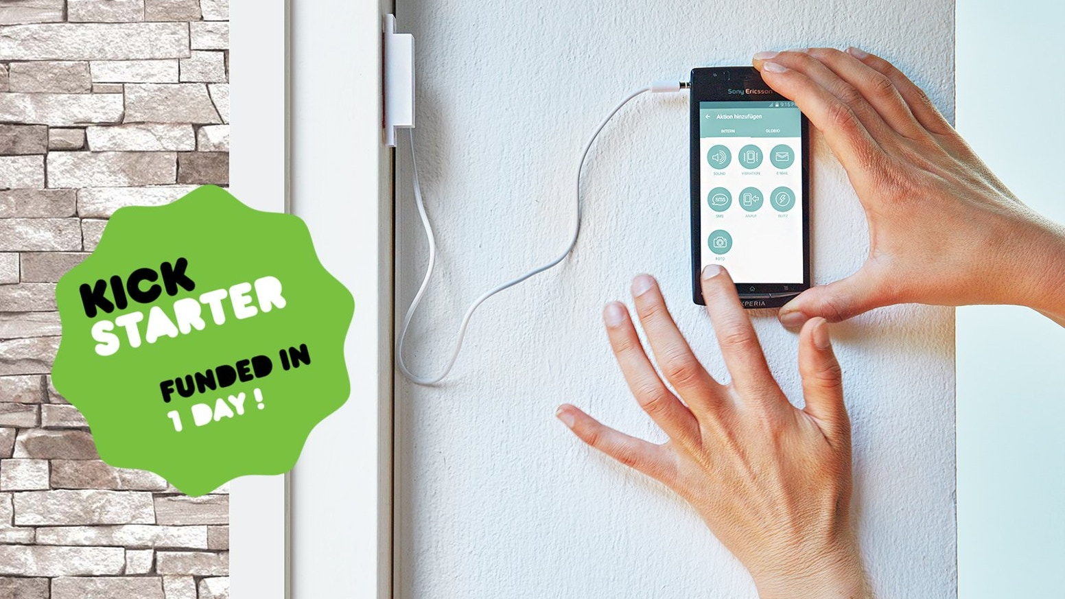 Use globio #Jacky together with your old smartphone to build world's easiest video surveillance home alarm.