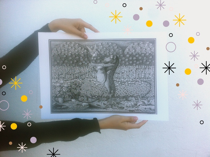 """Unless otherwise stated, giclée prints will be printed on 13x19"""" Fine Art Velvet Paper."""