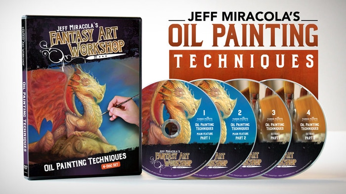 Jeff Miracola's Fantasy Art Oil Painting Techniques Video by Three