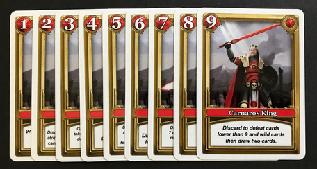Red Carnaros faction character cards
