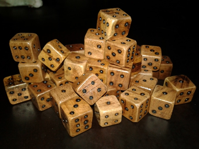 Completed Mesquite Dice