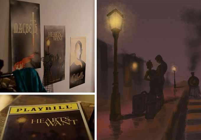 Props used in the film – the digital painting on the right could be yours!