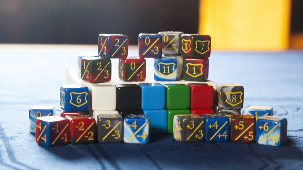 Modifier d6 Dice for Collectable Card and Tabletop Games project video thumbnail