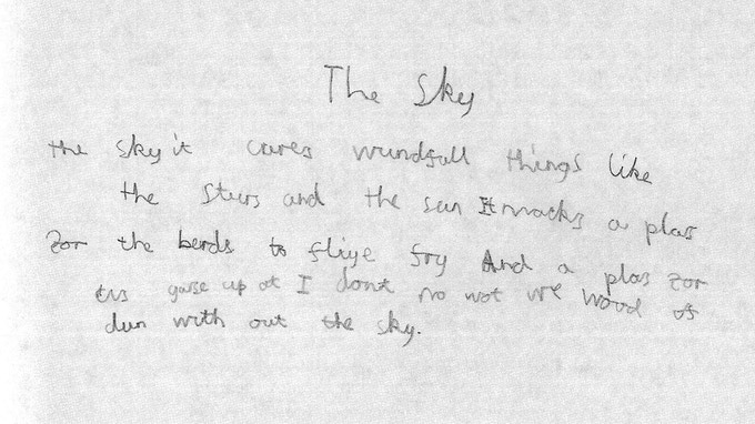 Johnnie Douglas-Pennant's original words for 'The Sky'