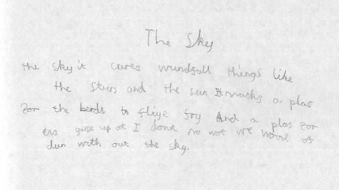 Johnnie Douglas-Pennant's original words for 'The Sky'