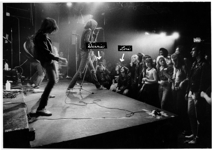 Dennis and Lois at one of the Ramones shows in the 1970's!