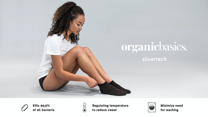 Technology enforced pure silver – The SilverTech line keeps you cool and permanently prevent the growth of unwanted bacteria.