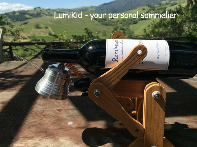 LumiKid is pretty strong to hold a bottle of your favorite wine