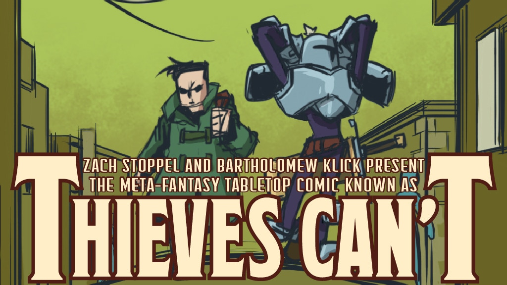 Thieves Can't - A meta comic book about tabletop gaming project video thumbnail