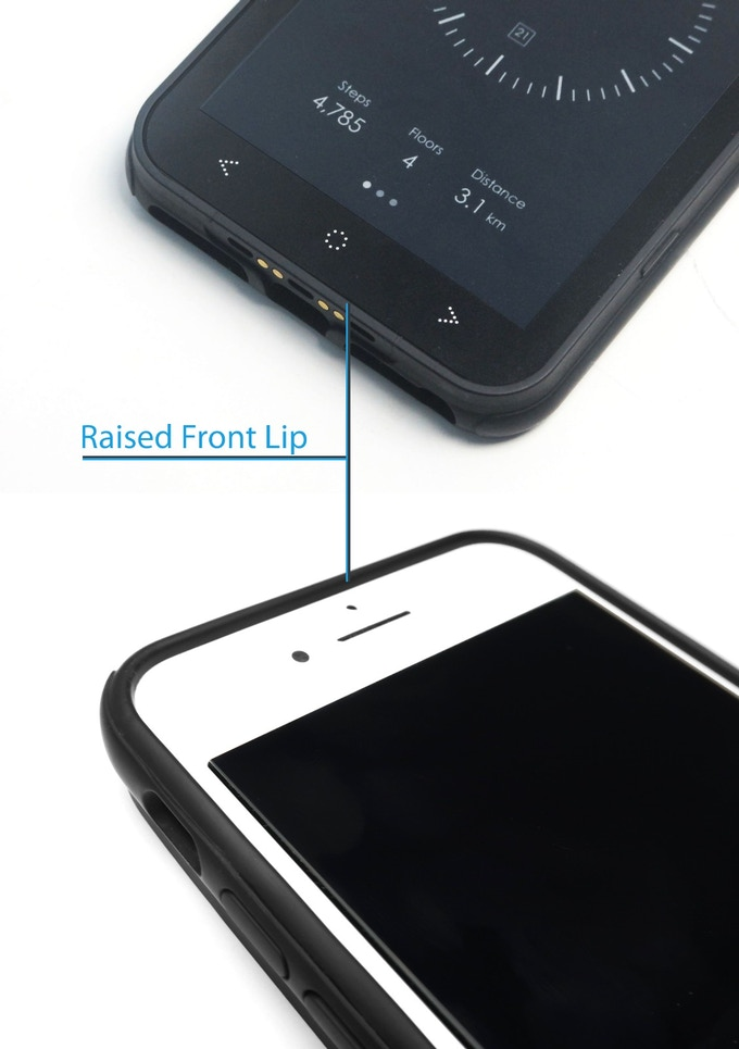 raised lip for added protection for your iphone
