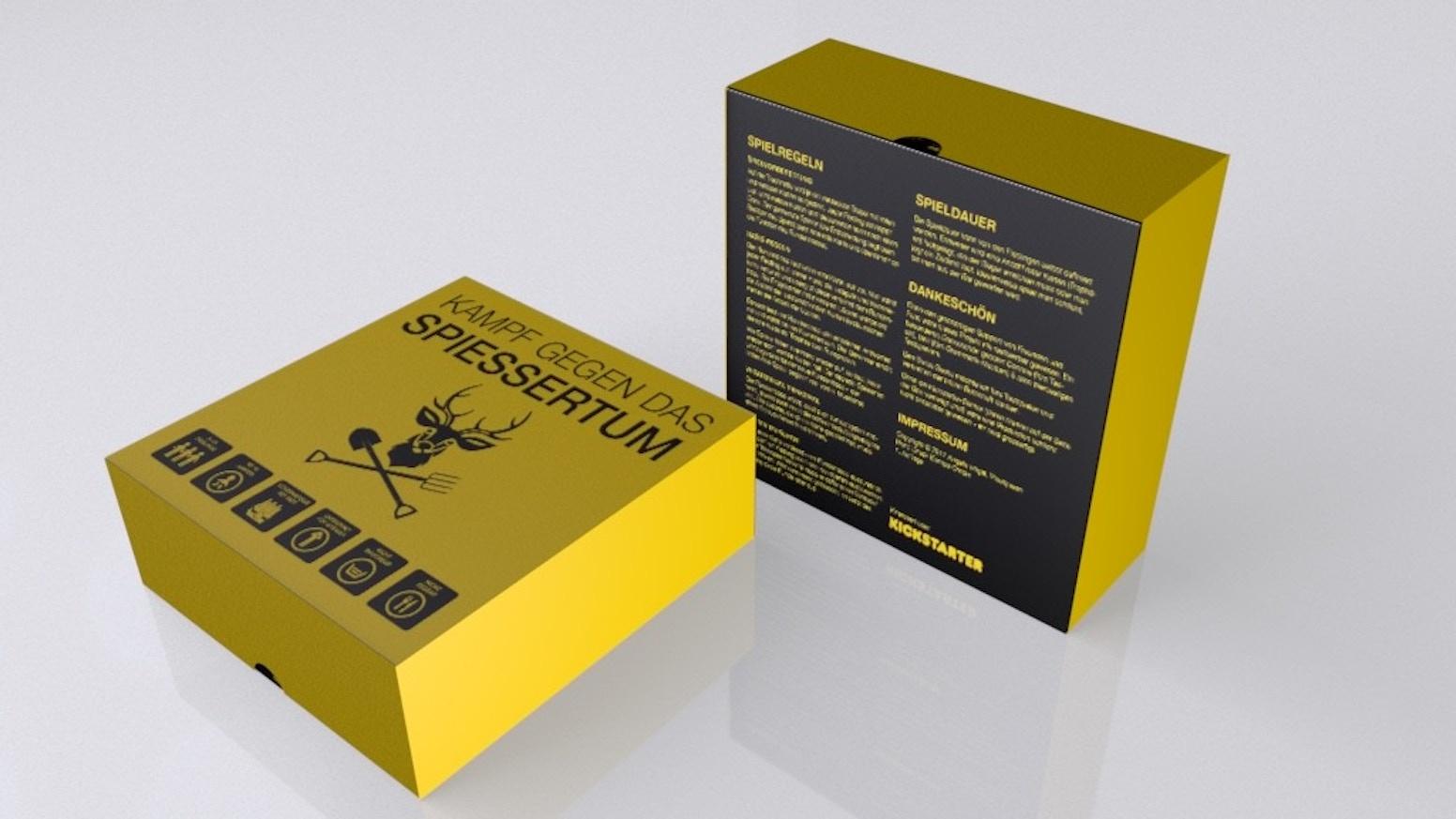 """Die deutsche Version des Schweizer Kickstarter-Erfolges """"Kampf gegen das Bünzlitum"""" – das böse Partyspiel für bis zu 10 Fieslinge."""